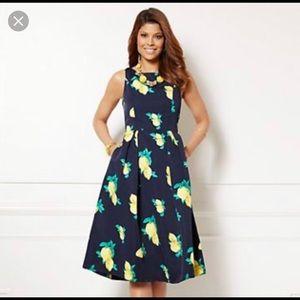 Eva Mendes lemon dress